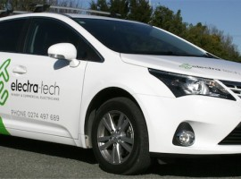 Electratech Toyota Wagon front qtr 1