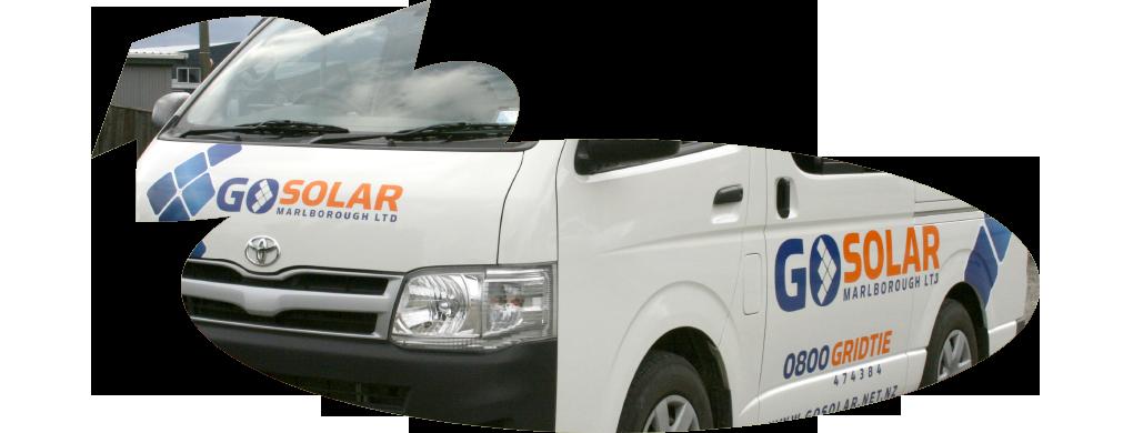 Go Solar van wrap
